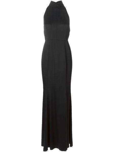 Шелковое вечернее платье - черное Jason Wu