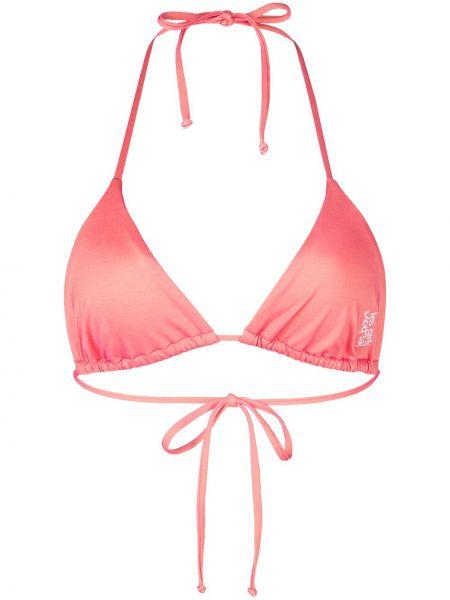 Розовый бикини с вышивкой Les Girls, Les Boys