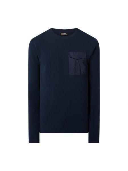 Niebieski sweter bawełniany National Geographic
