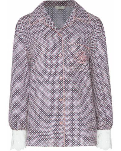Блузка с длинным рукавом с вышивкой шелковая Fendi