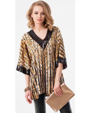 Блузка с пайетками с V-образным вырезом Wisell