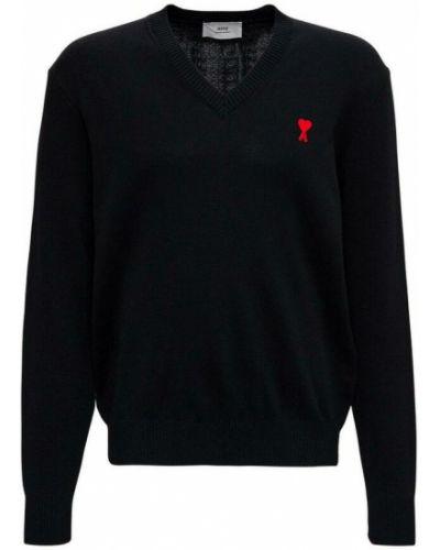 Czarny sweter Ami Paris