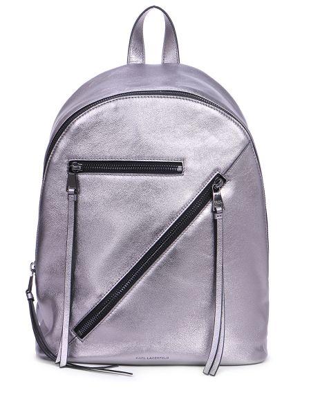 Кожаный рюкзак на молнии классический Karl Lagerfeld