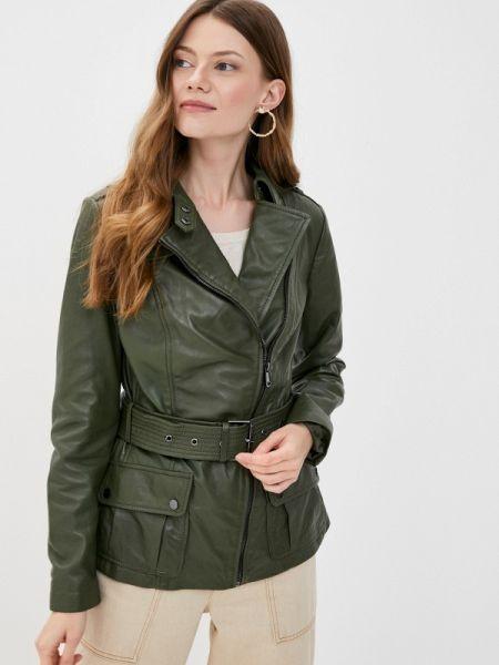 Кожаная куртка весенняя зеленая снежная королева