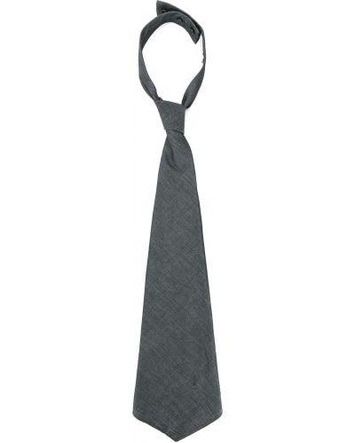 Хлопковый серый галстук на пуговицах Brunello Cucinelli