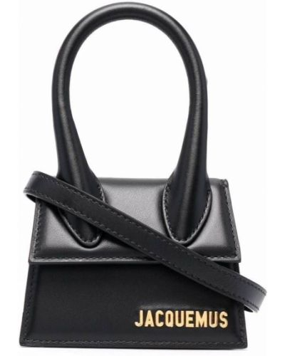 Черная сумка золотистая Jacquemus