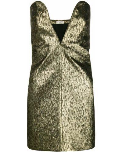 Платье мини без бретелек Saint Laurent