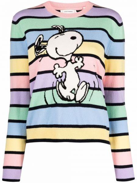 Розовый шерстяной длинный свитер круглый Chinti And Parker