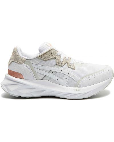Кожаные белые кроссовки беговые для бега Asics