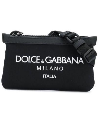 Кожаная сумка на молнии поясная Dolce & Gabbana