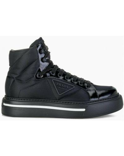 Czarne sneakersy Prada