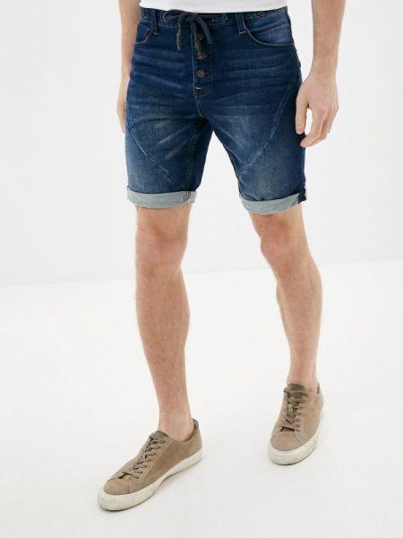 Синие джинсовые шорты из овчины Sublevel