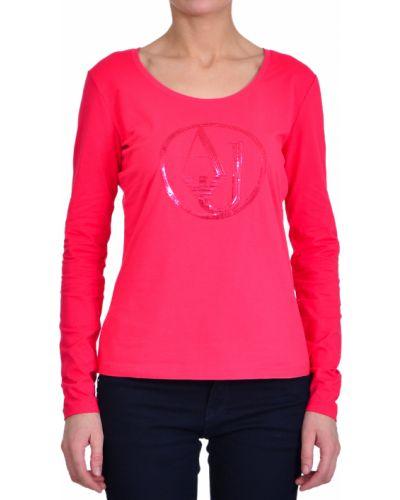 Розовый джемпер хлопковый Armani Jeans