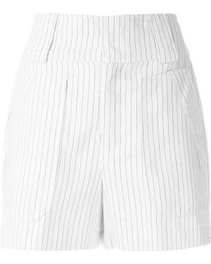 Однобортные белые шорты с карманами Tufi Duek