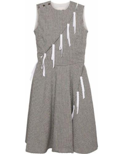 Платье в клетку льняное Sandy Liang