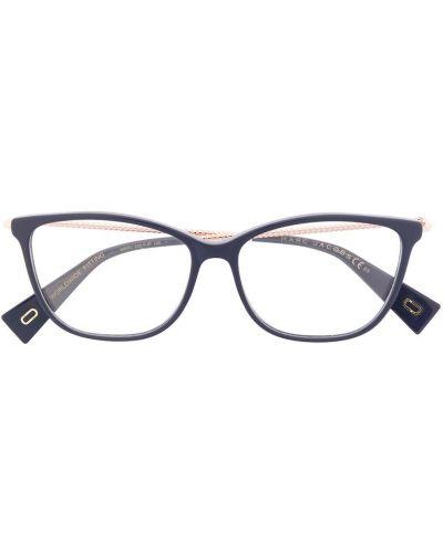 Золотистые прямые желтые очки для зрения Marc Jacobs Eyewear