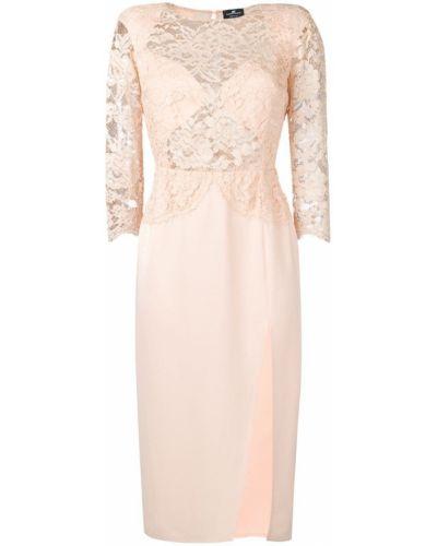 Платье футляр розовое Elisabetta Franchi