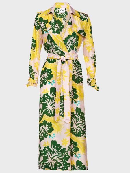 Шелковое платье с поясом Michel Klein