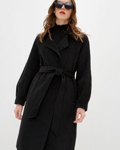 Черное пальто двубортное Blugirl Folies