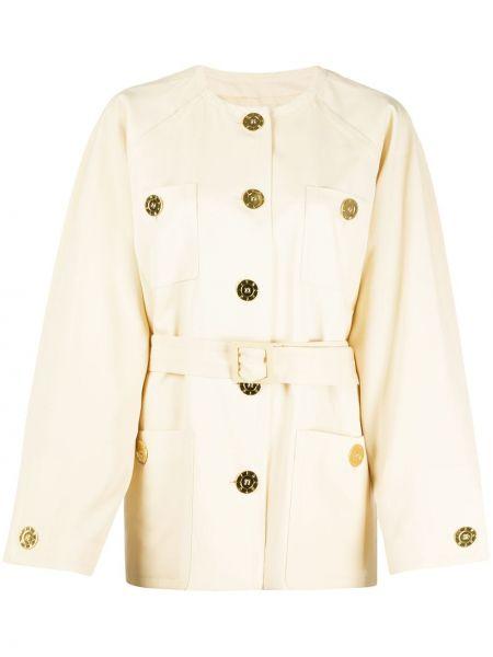 Шерстяная куртка на пуговицах круглая с круглым вырезом Givenchy Pre-owned