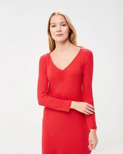 Красное платье с длинными рукавами Jennyfer