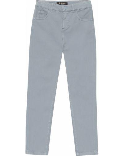 Bawełna bawełna niebieski klasyczny spodnie Loro Piana Kids