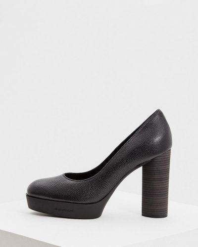 Кожаные туфли осенние для офиса на каблуке Baldinini