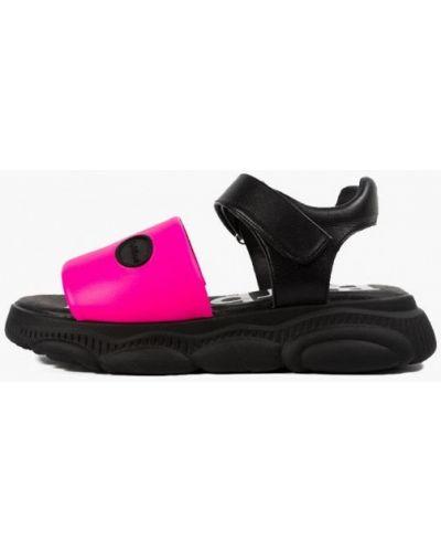 Кожаные сандалии - розовые Barbilioni