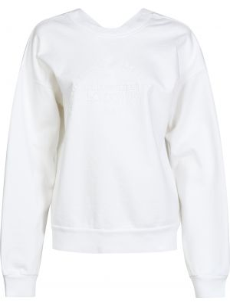 Хлопковый белый джемпер Victoria Beckham