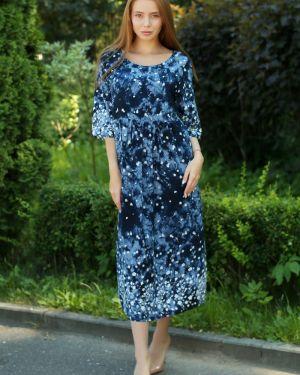 Платье миди с цветочным принтом из штапеля Lika Dress