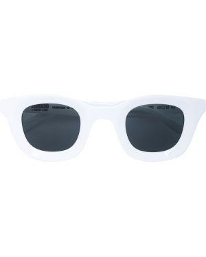 Прямые белые солнцезащитные очки квадратные с завязками Thierry Lasry