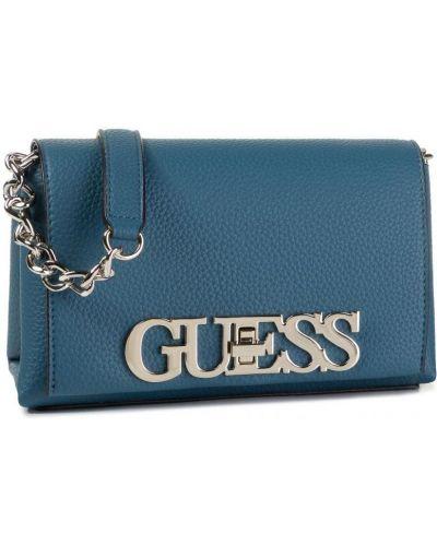 Синяя сумка через плечо из искусственной кожи Guess