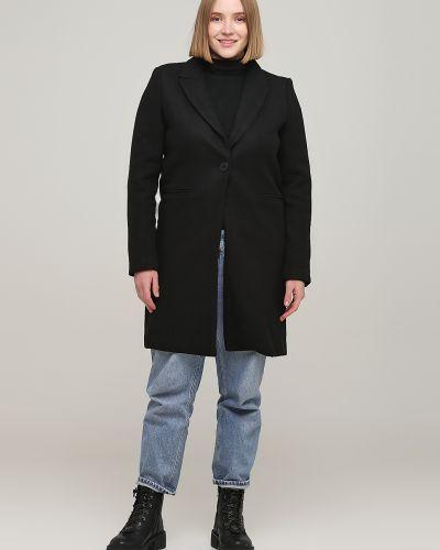 Однобортное черное пальто с подкладкой Sweewe