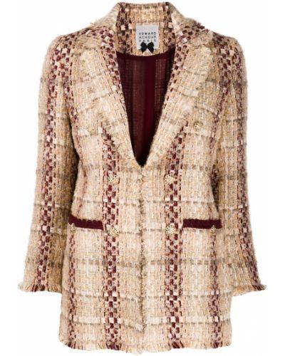 Прямой удлиненный пиджак с карманами Edward Achour Paris