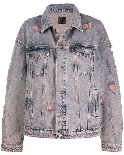 Серая джинсовая куртка свободного кроя на пуговицах Alchemist
