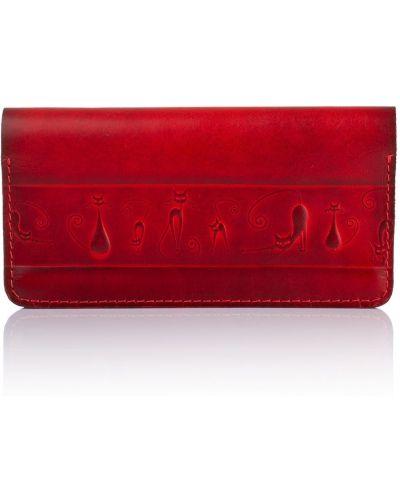 Красный кожаный кошелек для монет на молнии Kafa