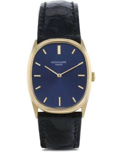С ремешком кожаные часы на кожаном ремешке золотые Patek Philippe