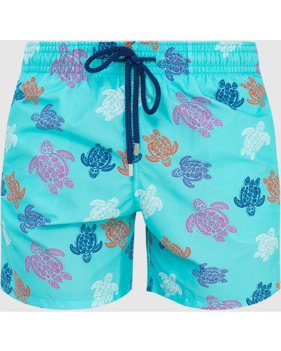 Бирюзовые шорты для плаванья Vilebrequin