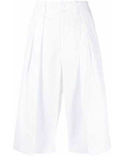 Хлопковые белые шорты на молнии Plan C