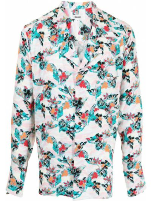 Koszula w kwiaty z długimi rękawami z printem Sulvam