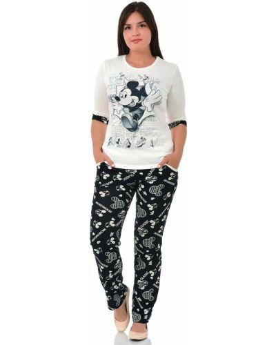 Пижама с брюками с карманами хлопковая Грандсток