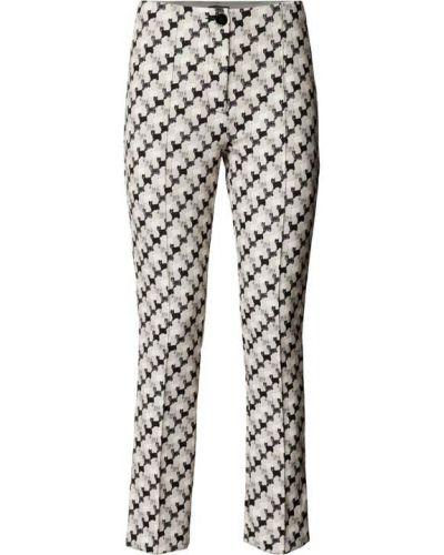 Białe spodnie materiałowe Marc Cain