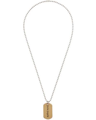 Бальное ожерелье золотое для полных Palm Angels