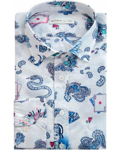 Рубашка с длинным рукавом прямая с принтом Etro