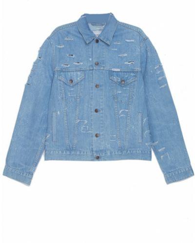 Куртка с надписью - голубая Forte Couture
