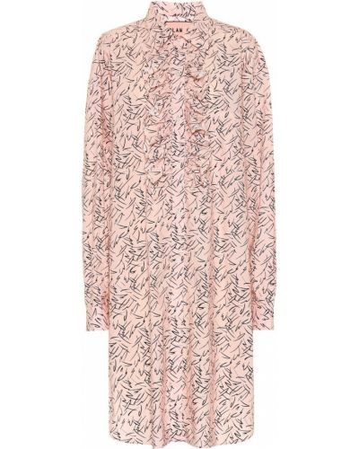 Летнее платье розовое из поплина Plan C