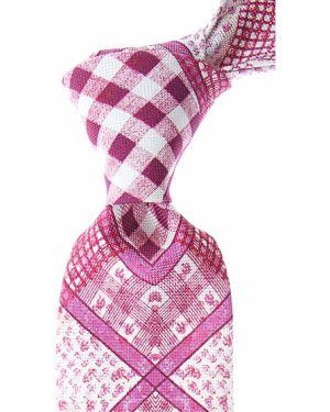 Różowy krawat z jedwabiu Christian Lacroix