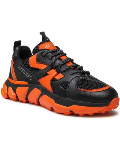 Buty sportowe skorzane - czarne Iceberg