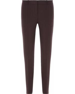 Шерстяные классические брюки - коричневые Hugo Boss