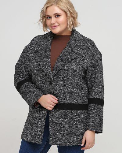 Черное пальто на пуговицах Kookai